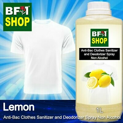 Anti-Bac Clothes Sanitizer and Deodorizer Spray (ABCSD) - Non Alcohol with Lemon - 1L
