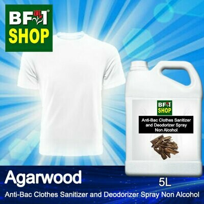 Anti-Bac Clothes Sanitizer and Deodorizer Spray (ABCSD) - Non Alcohol with Agarwood - 5L