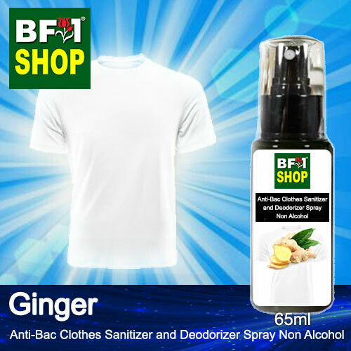 Anti-Bac Clothes Sanitizer and Deodorizer Spray (ABCSD) - Non Alcohol with Ginger - 65ml
