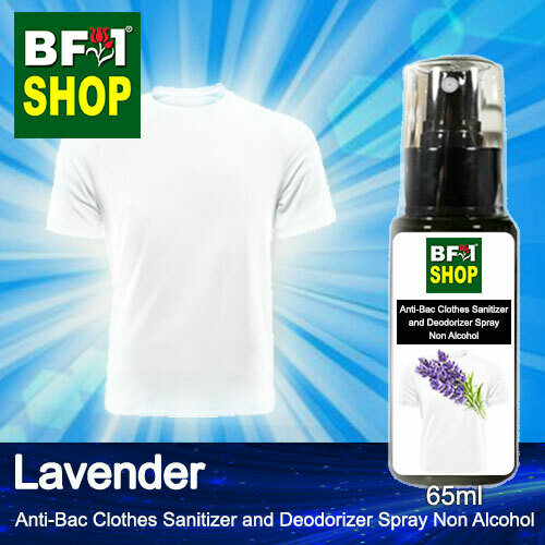 Anti-Bac Clothes Sanitizer and Deodorizer Spray (ABCSD) - Non Alcohol with Lavender - 65ml