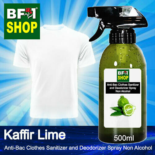 Anti-Bac Clothes Sanitizer and Deodorizer Spray (ABCSD) - Non Alcohol with lime - Kaffir Lime - 500ml