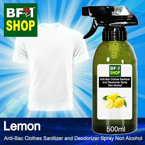 Anti-Bac Clothes Sanitizer and Deodorizer Spray (ABCSD) - Non Alcohol with Lemon - 500ml