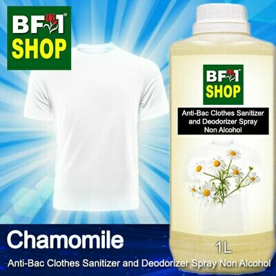 Anti-Bac Clothes Sanitizer and Deodorizer Spray (ABCSD) - Non Alcohol with Chamomile - 1L