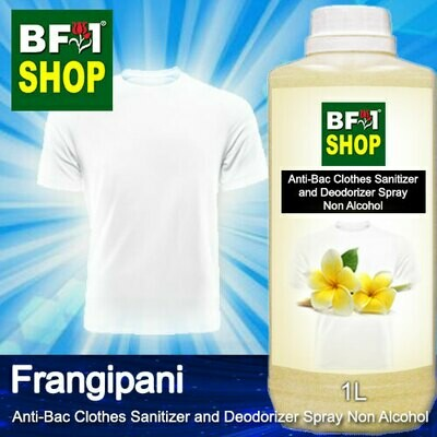 Anti-Bac Clothes Sanitizer and Deodorizer Spray (ABCSD) - Non Alcohol with Frangipani - 1L