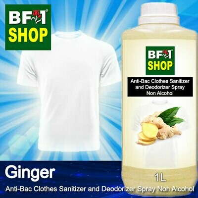 Anti-Bac Clothes Sanitizer and Deodorizer Spray (ABCSD) - Non Alcohol with Ginger - 1L