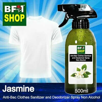 Anti-Bac Clothes Sanitizer and Deodorizer Spray (ABCSD) - Non Alcohol with Jasmine - 500ml