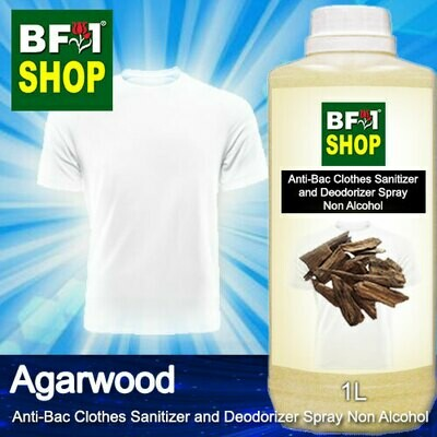 Anti-Bac Clothes Sanitizer and Deodorizer Spray (ABCSD) - Non Alcohol with Agarwood - 1L