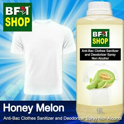 Anti-Bac Clothes Sanitizer and Deodorizer Spray (ABCSD) - Non Alcohol with Honey Melon - 1L