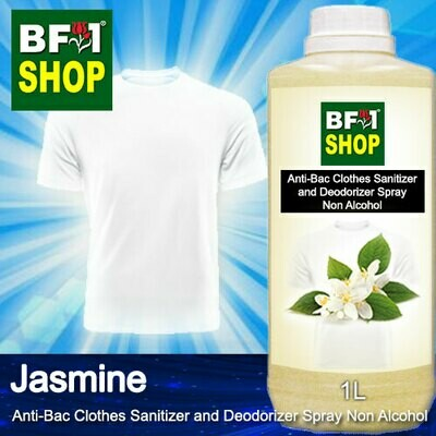 Anti-Bac Clothes Sanitizer and Deodorizer Spray (ABCSD) - Non Alcohol with Jasmine - 1L
