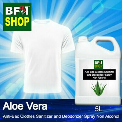 Anti-Bac Clothes Sanitizer and Deodorizer Spray (ABCSD) - Non Alcohol with Aloe Vera - 5L