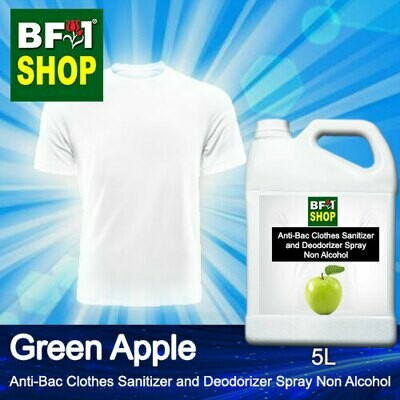 Anti-Bac Clothes Sanitizer and Deodorizer Spray (ABCSD) - Non Alcohol with Apple - Green Apple - 5L