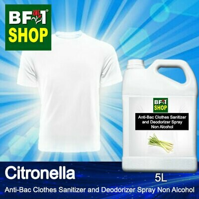 Anti-Bac Clothes Sanitizer and Deodorizer Spray (ABCSD) - Non Alcohol with Citronella - 5L