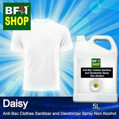 Anti-Bac Clothes Sanitizer and Deodorizer Spray (ABCSD) - Non Alcohol with Daisy - 5L