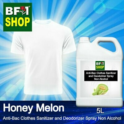 Anti-Bac Clothes Sanitizer and Deodorizer Spray (ABCSD) - Non Alcohol with Honey Melon - 5L