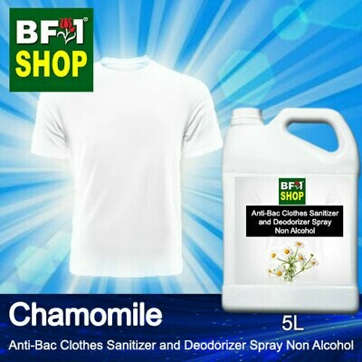 Anti-Bac Clothes Sanitizer and Deodorizer Spray (ABCSD) - Non Alcohol with Chamomile - 5L