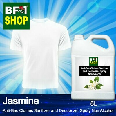 Anti-Bac Clothes Sanitizer and Deodorizer Spray (ABCSD) - Non Alcohol with Jasmine - 5L