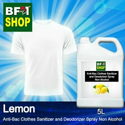 Anti-Bac Clothes Sanitizer and Deodorizer Spray (ABCSD) - Non Alcohol with Lemon - 5L