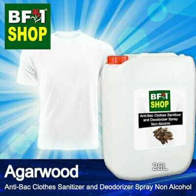 Anti-Bac Clothes Sanitizer and Deodorizer Spray (ABCSD) - Non Alcohol with Agarwood - 25L