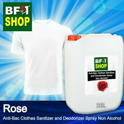 Anti-Bac Clothes Sanitizer and Deodorizer Spray (ABCSD) - Non Alcohol with Rose - 25L