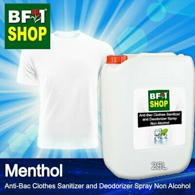 Anti-Bac Clothes Sanitizer and Deodorizer Spray (ABCSD) - Non Alcohol with Menthol - 25L