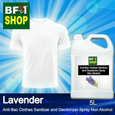 Anti-Bac Clothes Sanitizer and Deodorizer Spray (ABCSD) - Non Alcohol with Lavender - 5L