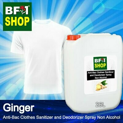 Anti-Bac Clothes Sanitizer and Deodorizer Spray (ABCSD) - Non Alcohol with Ginger - 25L