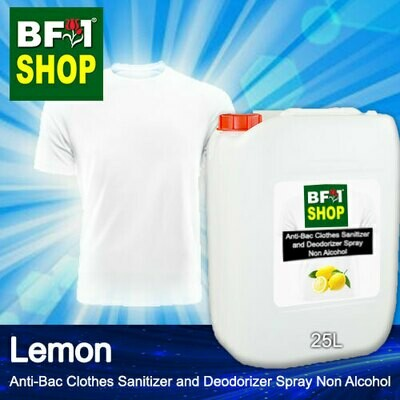 Anti-Bac Clothes Sanitizer and Deodorizer Spray (ABCSD) - Non Alcohol with Lemon - 25L