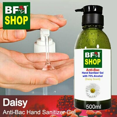 Anti-Bac Hand Sanitizer Gel with 75% Alcohol (ABHSG) - Daisy - 500ml