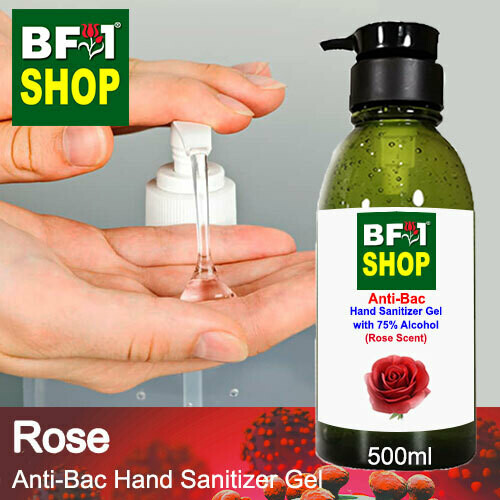 Anti-Bac Hand Sanitizer Gel with 75% Alcohol (ABHSG) - Rose - 500ml