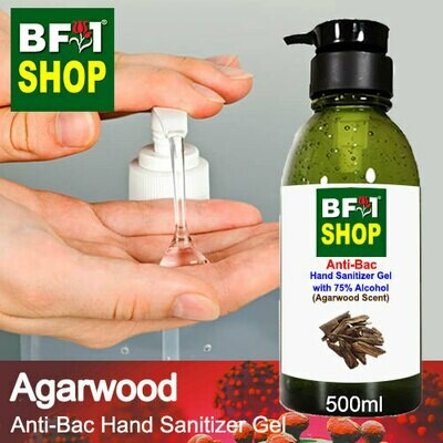 Anti-Bac Hand Sanitizer Gel with 75% Alcohol (ABHSG) - Agarwood - 500ml