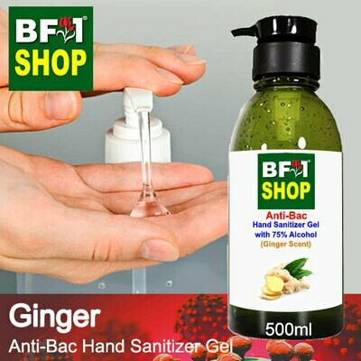 Anti-Bac Hand Sanitizer Gel with 75% Alcohol (ABHSG) - Ginger - 500ml
