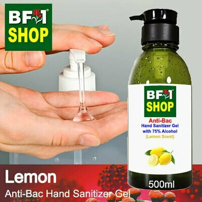 Anti-Bac Hand Sanitizer Gel with 75% Alcohol (ABHSG) - Lemon - 500ml