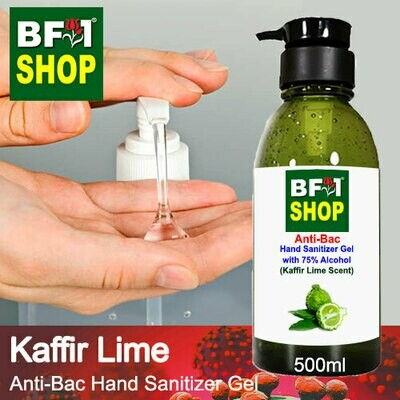 Anti-Bac Hand Sanitizer Gel with 75% Alcohol (ABHSG) - lime - Kaffir Lime - 500ml