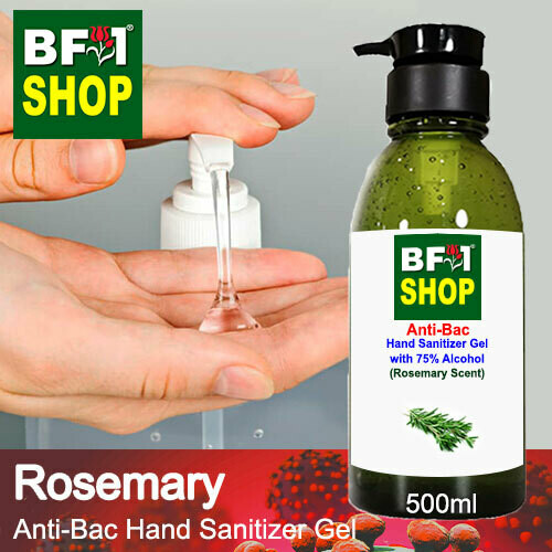 Anti-Bac Hand Sanitizer Gel with 75% Alcohol (ABHSG) - Rosemary - 500ml