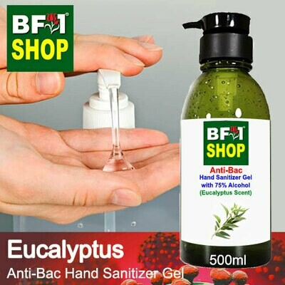 Anti-Bac Hand Sanitizer Gel with 75% Alcohol (ABHSG) - Eucalyptus - 500ml