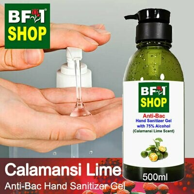 Anti-Bac Hand Sanitizer Gel with 75% Alcohol (ABHSG) - lime - Calamansi Lime - 500ml