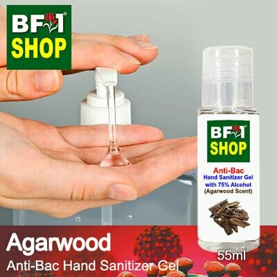 Anti-Bac Hand Sanitizer Gel with 75% Alcohol (ABHSG) - Agarwood - 55ml