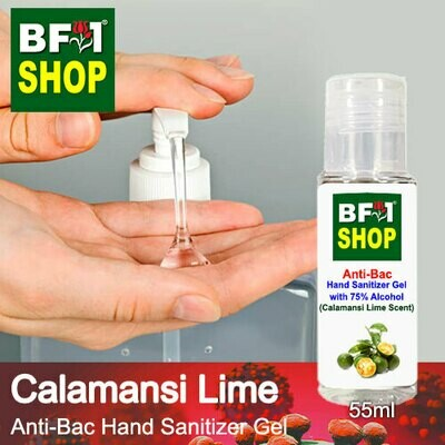 Anti-Bac Hand Sanitizer Gel with 75% Alcohol (ABHSG) - lime - Calamansi Lime - 55ml