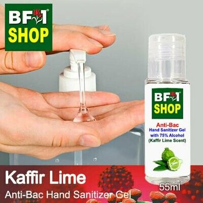 Anti-Bac Hand Sanitizer Gel with 75% Alcohol (ABHSG) - lime - Kaffir Lime - 55ml