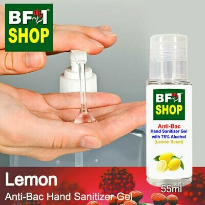 Anti-Bac Hand Sanitizer Gel with 75% Alcohol (ABHSG) - Lemon - 55ml