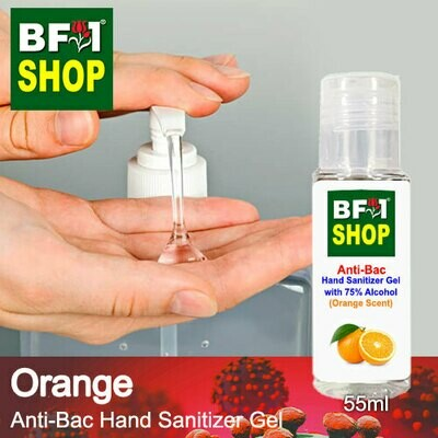 Anti-Bac Hand Sanitizer Gel with 75% Alcohol (ABHSG) - Orange - 55ml