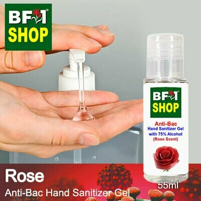 Anti-Bac Hand Sanitizer Gel with 75% Alcohol (ABHSG) - Rose - 55ml