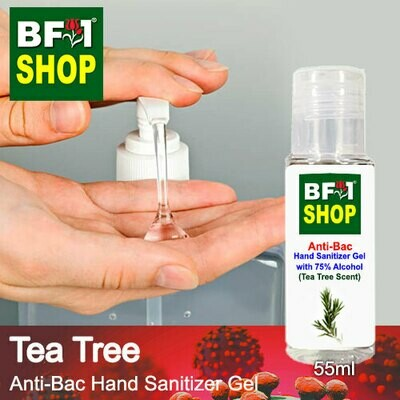 Anti-Bac Hand Sanitizer Gel with 75% Alcohol (ABHSG) - Tea Tree - 55ml