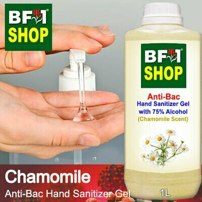 Anti-Bac Hand Sanitizer Gel with 75% Alcohol (ABHSG) - Chamomile - 1L
