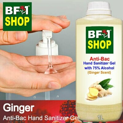 Anti-Bac Hand Sanitizer Gel with 75% Alcohol (ABHSG) - Ginger - 1L