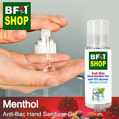 Anti-Bac Hand Sanitizer Gel with 75% Alcohol (ABHSG) - Menthol - 55ml