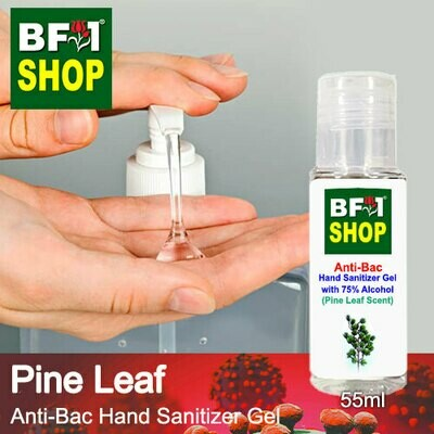 Anti-Bac Hand Sanitizer Gel with 75% Alcohol (ABHSG) - Pine Leaf - 55ml