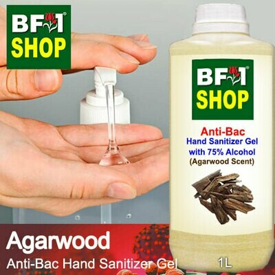 Anti-Bac Hand Sanitizer Gel with 75% Alcohol (ABHSG) - Agarwood - 1L