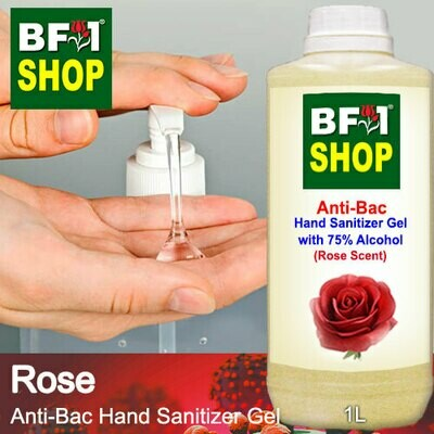 Anti-Bac Hand Sanitizer Gel with 75% Alcohol (ABHSG) - Rose - 1L
