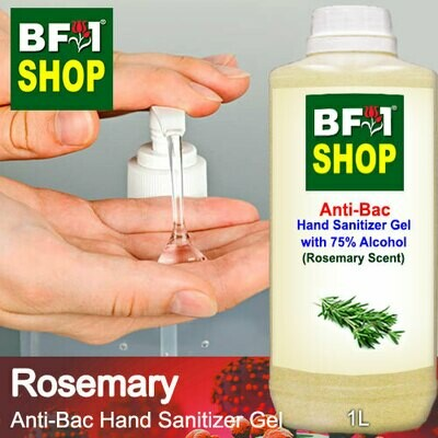 Anti-Bac Hand Sanitizer Gel with 75% Alcohol (ABHSG) - Rosemary - 1L
